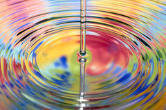 Varicoloured water Royalty Free Stock Photography