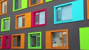 Varicoloured windows stock video footage