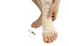 Varicose veins treatment Royalty Free Stock Image