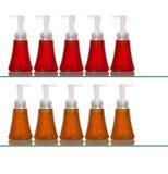 Varie bottiglie di plastica del sapone Fotografia Stock Libera da Diritti