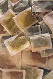 Varie bustine di tè Fotografia Stock