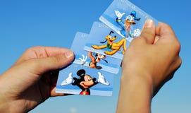 Varie carte di entrata del mondo di Disney Fotografia Stock Libera da Diritti