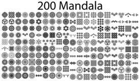 Varie collezioni della mandala - 200 royalty illustrazione gratis