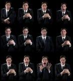 Varie emozioni umane fotografia stock libera da diritti