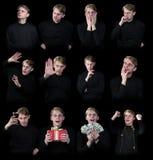 Varie emozioni umane Fotografia Stock