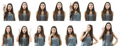 Varie espressioni Fotografia Stock Libera da Diritti