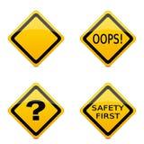 Varie icone del segnale stradale Immagini Stock