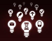 Varie icone dell'interfaccia Fotografia Stock Libera da Diritti