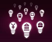 Varie icone dell'interfaccia Fotografia Stock