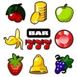 Varie icone delle slot machine Fotografie Stock Libere da Diritti