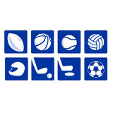 Varie icone di sport vectored Fotografia Stock Libera da Diritti