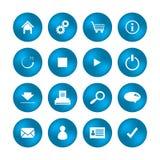Varie icone di web Fotografie Stock