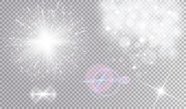 Varie illustrazioni di effetti della luce bianca messe Immagine Stock Libera da Diritti