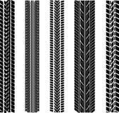 Varie impronte del pneumatico Immagini Stock