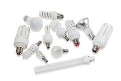Varie lampade elettriche immagine stock