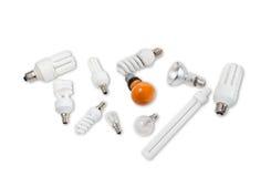 Varie lampade elettriche immagini stock libere da diritti