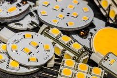 Varie lampadine di G4 LED con differenti chip Fotografia Stock
