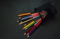 Varie matite di colore Immagini Stock