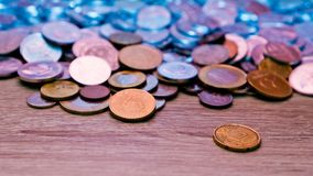 Varie monete Fotografia Stock