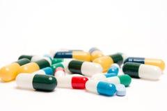Varie pillole Fotografie Stock