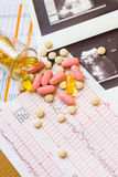 Varie pillole Immagini Stock