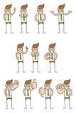 varie pose del carattere Immagine Stock Libera da Diritti