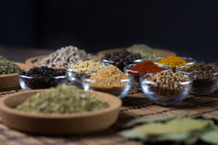 Varie spezie fresche in ciotole, Immagine Stock Libera da Diritti