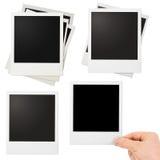 Varie strutture della foto della polaroid messe isolate Immagine Stock