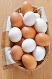 Varie uova del pollo Fotografia Stock Libera da Diritti