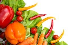 Varie verdure isolate Fotografie Stock