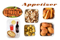 Varied appetizer. Royalty Free Stock Image