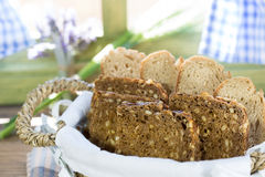 Varied bread cut to slices Royalty Free Stock Photo