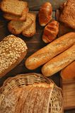 Varied bread still life Royalty Free Stock Images