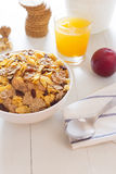 A varied breakfast in the morning Stock Images