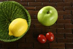 Varied fruits and vegetables Stock Photo