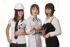 Varied occupations Royalty Free Stock Image