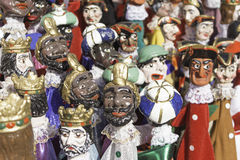 Varied puppets Stock Images