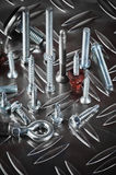 Varied screws and bolts Stock Photo