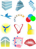 Varied set of colorful design elements or icons. A varied set of colorful design elements or icons Royalty Free Stock Images