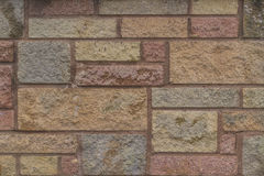 Varied sized and color brick background texture Royalty Free Stock Photography