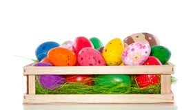 Varied sorts of easter eggs Stock Images
