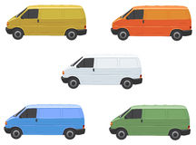 Varied vans Stock Photo