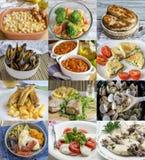 Variedad asombrosa de diversos platos hechos en casa Imagen de archivo libre de regalías