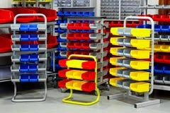Variedad colorida del estante Imagen de archivo