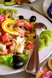 Variedad de alimento y de frutas exóticos Fotos de archivo libres de regalías