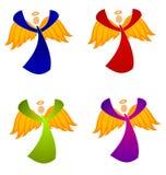 Variedad de arte de clip de los ángeles de la Navidad stock de ilustración