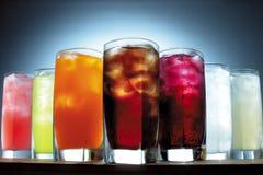 Variedad de bebidas fotos de archivo