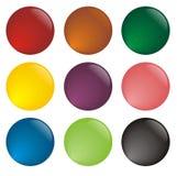 Variedad de botones del web de diversos colores libre illustration