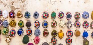 Variedad de casquillos de lana Fotos de archivo libres de regalías