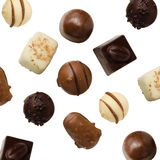 Variedad de chocolates hechos a mano Imágenes de archivo libres de regalías